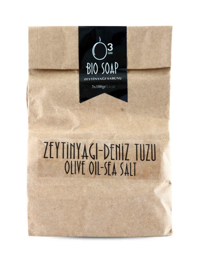 Natural Olive Oil Sea Salt Soap  ( 3 Pack ) 3.5oz